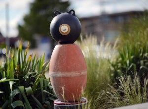 Little Bear, marine debris assemblage, part of the Tofino Float'em Garden by Pete Clarkson